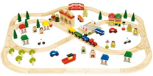 Bigjigs Town and Country Train Set