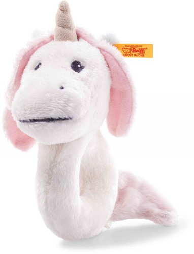 Steiff Soft Cuddly Friends Unica Babe unicorn grip toy with rattle, white