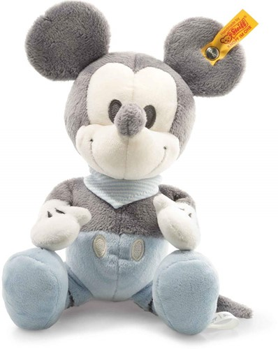 Steiff Mickey Mouse with squeaker and rustling foil, grey/blue/white6)
