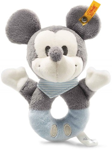 Steiff Mickey Mouse grip toy with rattle, grey/blue/white6)