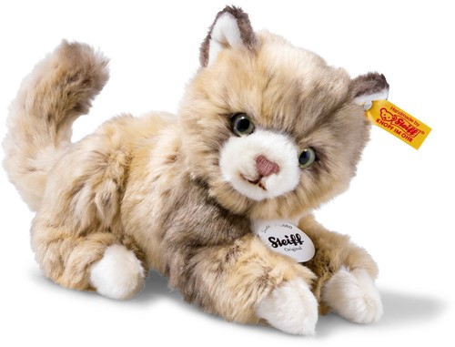 Steiff Lucy cat, spotted brown