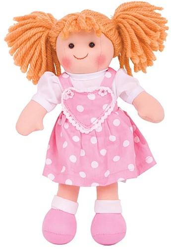 Bigjigs Ruby - Blonde Hair/Pink Dress with White Spots