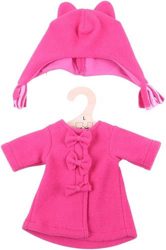 Bigjigs Pink Fleece Coat and Hat - Large
