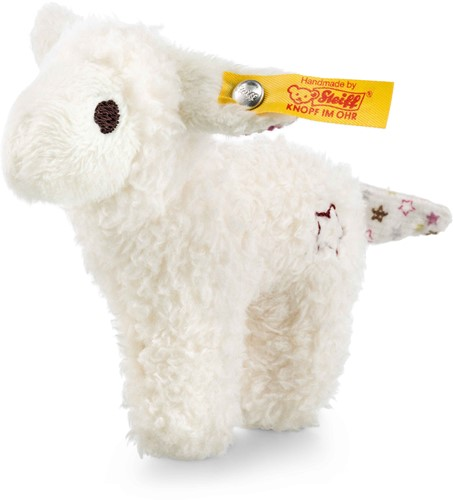 Steiff Mini lamb with rustling foil and rattle, white