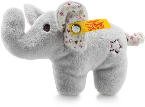 Steiff Mini elephant with rustling foil and rattle, grey