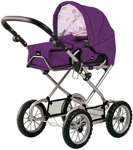 BRIO Doll Pram Gull Plum