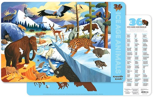 Crocodile Creek Placemats 36 Ice Age Animals