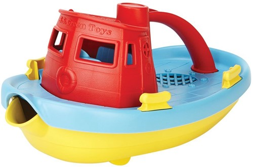 Green Toys Tugboat - RED HANDLE
