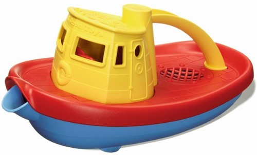 Green Toys Tugboat - YELLOW HANDLE